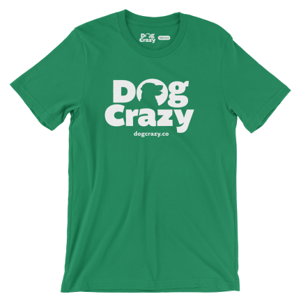dog crazy t-shirt, golden retriever logo