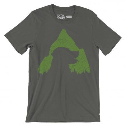 dogs mountains outdoors t-shirt by dog crazy