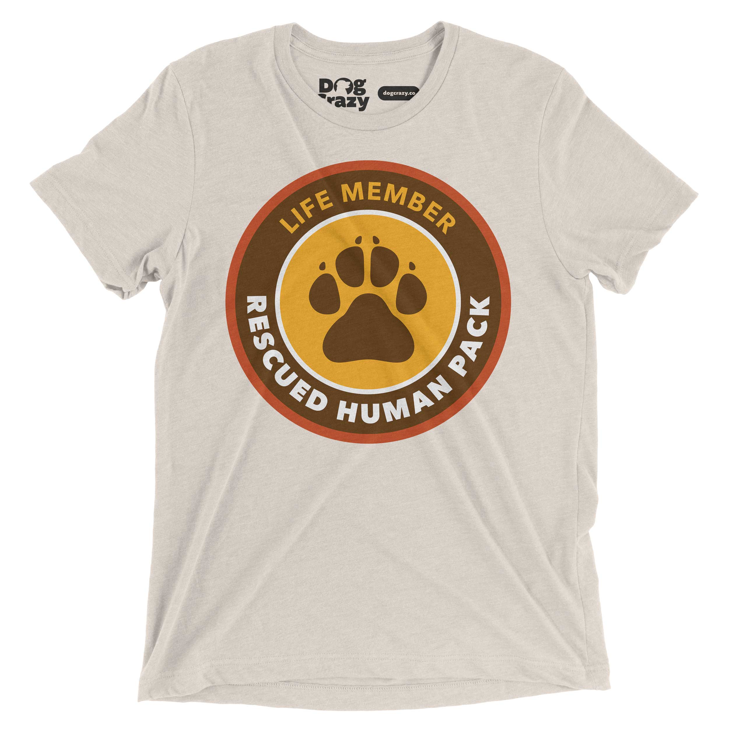 rescued human dog shirt for dog lovers