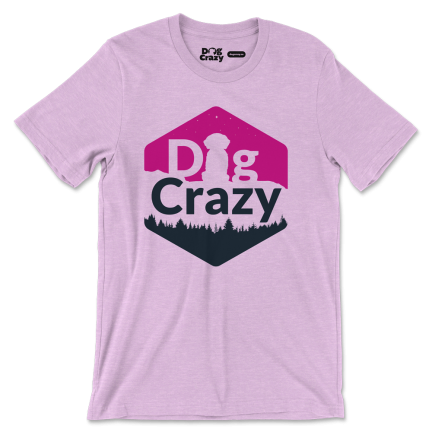 dog crazy sunset t-shirt