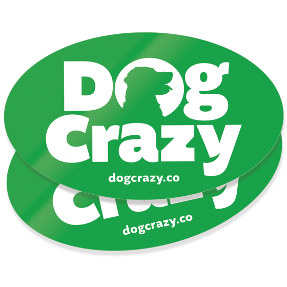 dog crazy logo stickers - outdoor stickers