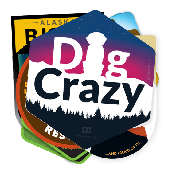 dog crazy stickers 10 pack